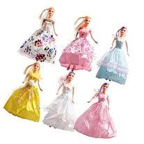 Rainbow Lot 6 P 6x Fashion Handmade Clothes Dresses Grows