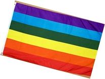 Rainbow Printed Polyester Flag, 3ft x 5ft