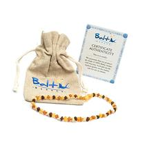 Raw Baltic Amber Teething Necklaces For Babies  - Anti