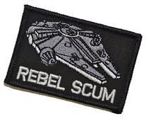 Rebel Scum Alliance 2x3 Morale Hook Fastener Patch - Black