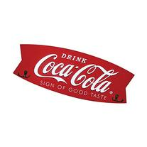 Red Coca-Cola Fishtail Coat Rack Sign