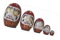 JapanBargain Matryoshka Daruma Nesting Doll, Red