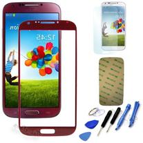 Red Replacement Screen Glass Lens Kit For Samsung Galaxy S4