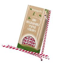Tranquilo Biodegradable Paper Straws - Red