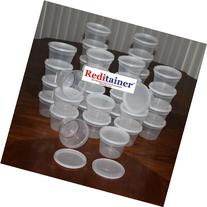 Reditainer Deli Food Storage Containers with Lid, 16-Ounce,