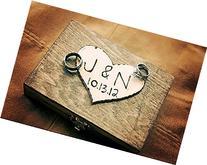 Ring Bearer Box - Shabby Chic Rustic Wedding Decor - Ring