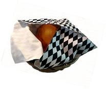 Basket Liner with Warmer for Hot Rolls and Bread in Black
