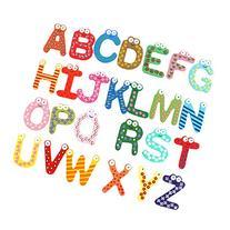Rorychen Alphabet 26 Capital Letters Fridge Magnet Wooden &