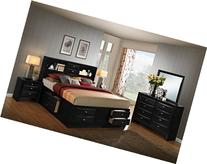 Roundhill Furniture Blemerey 110 Wood Storage Bed Group with