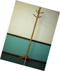Roundhill Furniture Solid Wood Swivel Head Hall Tree Coat