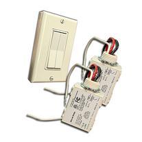 RunLessWire Dual Rocker WirelessSwitch Kit: Control any