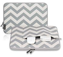 Runetz - 13-inch Chevron Gray Neoprene Sleeve Case Cover for