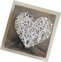 Rustic White Heart Block - A unique gift for Weddings,