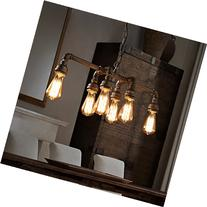 SEOL-LIGHT Industrial Pipe Chandeliers with 6 lights,Max