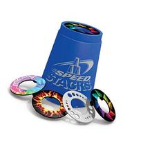 SNAP TOPS - A set of 12 Assorted Colors/Designs Speed Stacks
