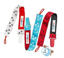 Pacifier Clip By TamTchu - Unisex Stylish Designs - 3 Pack