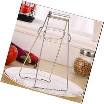 ST park Stainless Steel Foldable Dish Plate Clip Tong, Hot