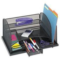 Safco® Organizer with Three Drawers ORGANIZER,DESKTOP MESH,