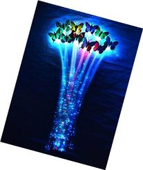 San Tokra 6 Pack LED Butterfly Fiber Optic Light-up Flashing