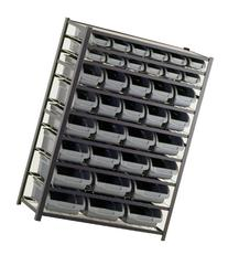 Sandusky Lee UR4416BIN36 Black Zinc Steel Bin Shelving Unit