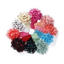 Sankuwen 10 PCS Girls Flower Headbands Baby Hair Dress