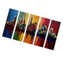 Santin Art-Summer In The City-Modern Canvas Art Wall Decor-