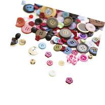 Scrambled Assortment Bag of Buttons for Arts & Crafts,