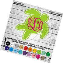 Sea Turtle Monogram Vinyl Die Cut Decal Sticker for Car