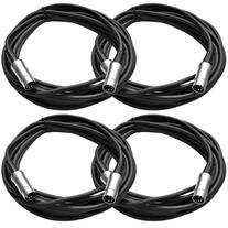 Seismic Audio - 4 Pack - 5 Pin MIDI Cable 20 Feet - Metal
