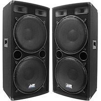 "Seismic Audio - Pair of Dual 15"" PA DJ SPEAKERS 1000 Watts"