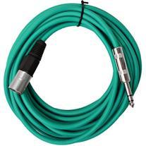Seismic Audio - SATRXL-M25Green - 25 Foot Green XLR Male to