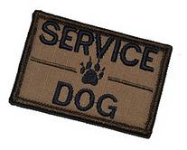 Service Dog, K9 Dog Patch - 2x3 Morale Patch - Coyote Brown