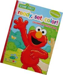 Sesame Street Ready, Set, Color! Coloring and Activity Book