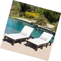 Estrella Outdoor PE Wicker Adjustable Chaise Lounge Chairs