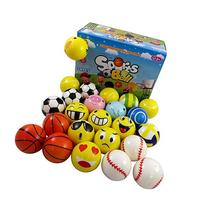 Set of 24 Mini Foam PU Sports Emoji Balls