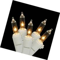 Set of 35 Clear Mini Christmas Lights - White Wire