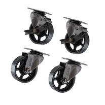 """4"""" X 1.25"""" CC Vintage Casters - 2 Swivel and 2 Swivel with"""