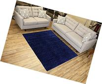 Shaggy Collection Solid Color Shag Area Rugs
