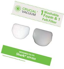 Shark XFF450 Washable & Reusable Felt & Foam Filter Kit,