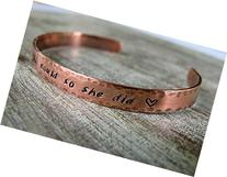 She Believed She Could So She Did, Copper, Bracelet, Cuff,