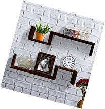 Shelving Solution S Style Wall Mount Shelf, Set of 2,