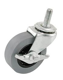 Shepherd Hardware 3264 2-Inch Threaded Stem TPR Caster with