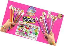 Shopkins Doodling Fun Pencils, Activity Book, and Erasers