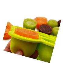Silicone Baby Food Freezer Tray with Clip-On Lid, Makes 9 X