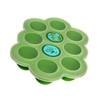Silicone Baby Food Freezer Tray with Clip-on Lid by