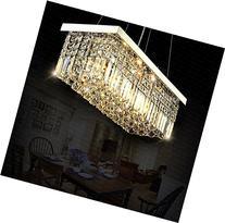 Siljoy Rectangle Dining Room Crystal Light Modern Chandelier