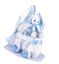 Silly Phillie Diaper Carriage Baby Boy Gift Set