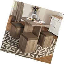 Simple Living 5-piece Baxter Dining Set with Storage Chair