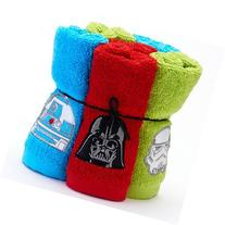 Six Piece Star Wars Soft Terry Cotton Bathroom Washcloths 6-