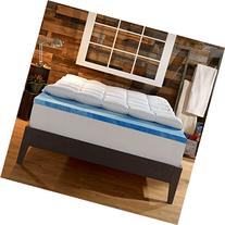Sleep Innovations 4-Inch Dual Layer Mattress Topper - Gel